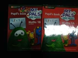 P1 maths textbook- My Pals are here Maths 1A and 1B