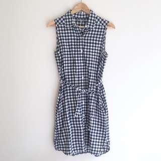Uniqlo Gingham Linen/Cotton Dress