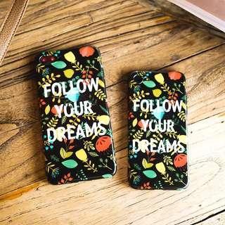 [preorder] iphone x floral vintage follow your dreams case