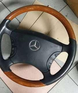 W220 steering wood