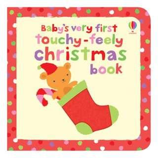 🚚 (BN) Usborne: Baby's Very First Touchy-Feely Christmas Book