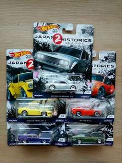 Hot Wheels Japan Historics 2 (set/assorted)