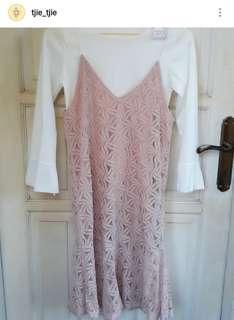 New real pict Dress Brukat Import