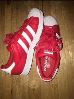 Red Adidas Superstar