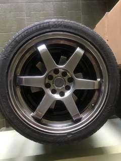 """Sport rim 17"""" with tyres PCD100/114"""