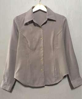 Natural Basic Long Sleeve Shirt