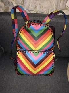 Pre Owned  Valentino backpack large  Chevron multicolour  With bag tag and dustbag