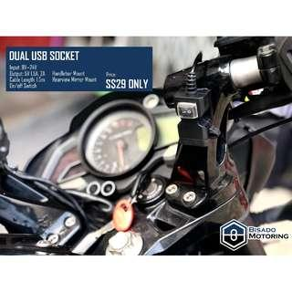 Dual USB Socket for Bikes