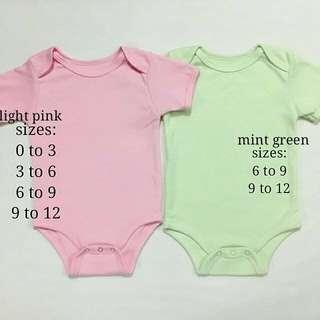 Baby plain onesies