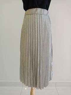 Gliter pleated skirt