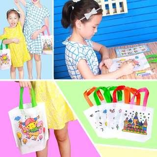 [Ready Stock] DIY Handheld Painting Canvas Bag