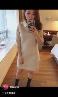 🚚 Chuchic 米白色 氣質洋裝