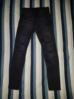 Black Ripped Jeans Original H&M Nego !