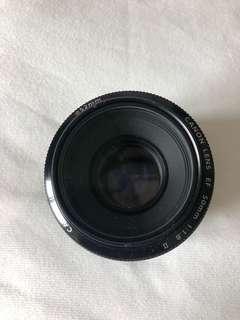 Canon 50mm portrait lens f/1.8 ( no lens cap)