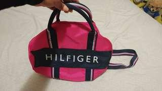 Tommy Hilfiger small pink duffel bag