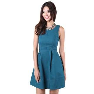 MGP Millie Flare Dress in Teal