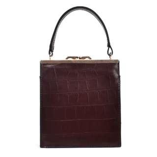 Brand New Clasp Crocodile Handbag