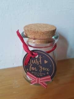 Empty decorative bottle gift