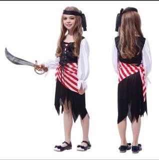 Pirates costume (Girls 130-140cm) with free sword