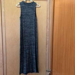 Valleygirl Grey Maxi With side slits