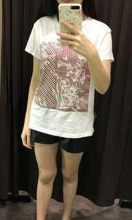 Zara white tee size xs