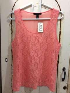 BNWT knit top coral Forever XXI