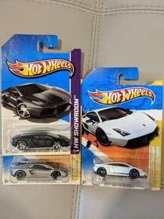 Hotwheels Lamborghini Aventador & Gallardo