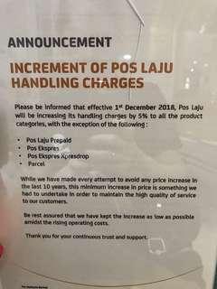Postage notice ✅