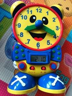 Excellent Condition Teaching Clock with quiz and tell time games