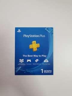 PS4 1 Month PS Plus Membership