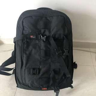 Lower pro camera bag with multiple sections