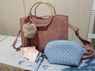 (NEW) hand bag + Wristlet