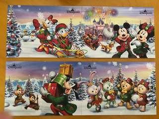 迪士尼貼紙 迪士尼聖誕卡 Christmas card Disney
