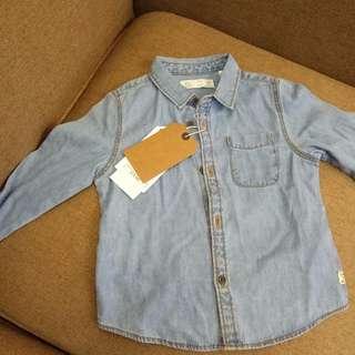 🚚 Zara Baby 牛仔襯衫