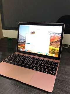 Macbook MNYG2 Retina i5 8Gb 512Gb 12 inch 2017 Rose Gold Super Mulus
