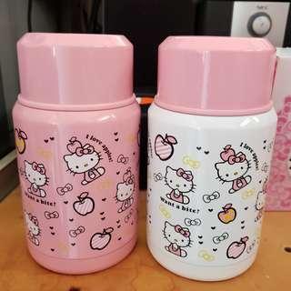 (有現貨) Hello Kitty 保溫壺 燜燒罐 500ml 兩色(白/粉)