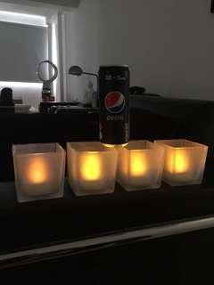 LED lights, Christmas lights, Philips lights. Candle light, Tea light.
