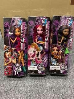 Monster High Dolls freaky field trip set