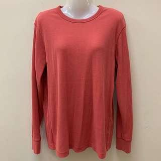 Preloved Uniqlo Waffle Crew Neck Long Sleeve Tshirt