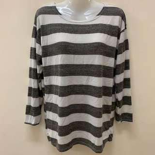 Preloved Long Sleeve Stripe Tshirt