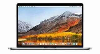 Kredit Apple Macbook Pro MR932 2018 Grey 15inch/i7/16GB RAM/256GB SSD/OS High Sierra