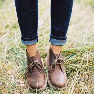 Clarks desert boots in beeswax