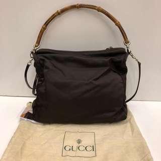🈹Gucci Vintage Bamboo Cross Body Bag