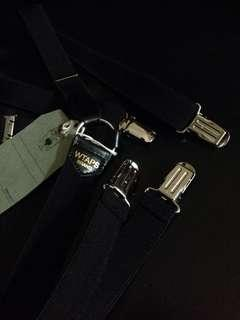 WTAPS Suspender Adjustable Trouser Braces wtaps 日製黑色吊帶