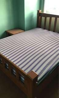 Used wooden bed