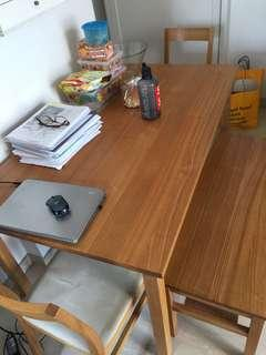 Muji - long table come with (3 chairs)