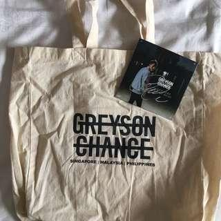 Signed Greyson Chance CD & Official Tote Bag