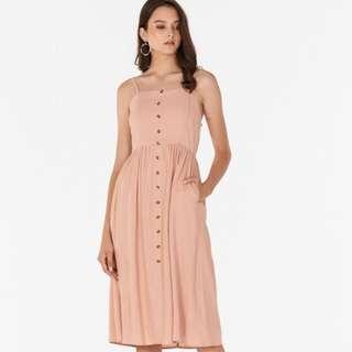 TCL Jalenn Linen Dress in Pink