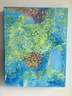 Original Abstract Painting by Artist Melo Ngai