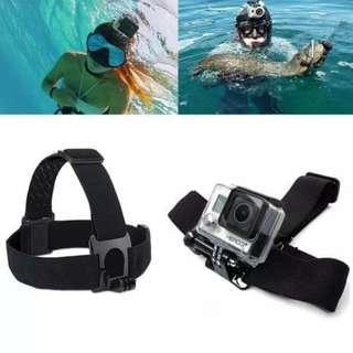 GoPro Accessories Headband Belt STRAP Mount Outdoor Camera Elastic Headband